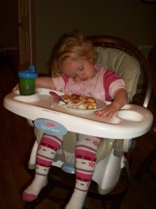 sleep in highchair